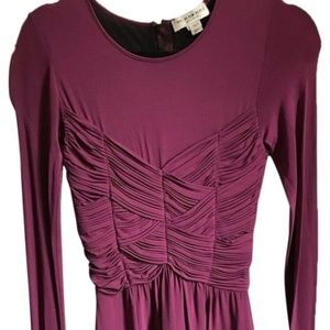 BURBERRY Pink LS Mesh/ Ruched Dress 2